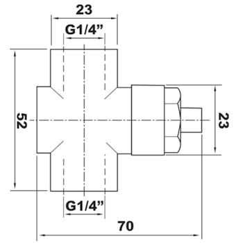 """RUBINETTO PORTAMANOMETRO NICHELATO A PULSANTE X MANOMETRI A MEMBR.PN4 1/4"""" MF codice prod: DSV17497 product photo Foto1 L2"""