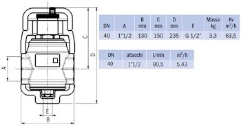 """DISAERATORE FILETTATO G 1""""1/2 IN OTTONE C/COIBENTAZIONE codice prod: DSV17837 product photo Foto1 L2"""