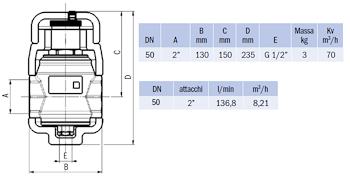 """DISAERATORE FILETTATO G 2"""" IN OTTONE C/COIBENTAZIONE codice prod: DSV17838 product photo Foto1 L2"""