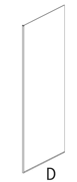 PARETE FISSA HALL SIX SCREEN 80 REVERS. SERIGRAFIA E PROFILO NERO OPACO codice prod: DSV17573 product photo