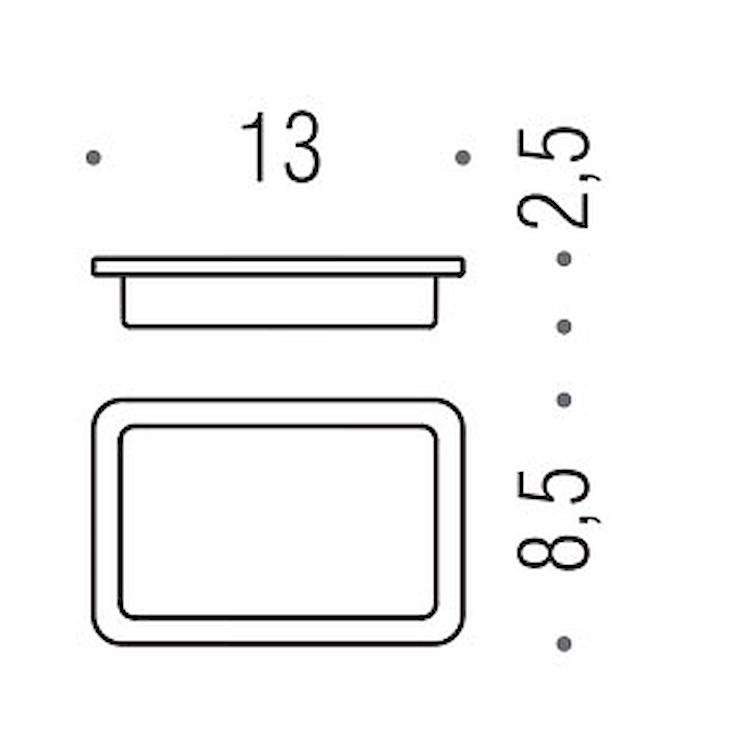 BASIC Q B3751 PORTA SAPONE CROMATO codice prod: B37510-VAN product photo