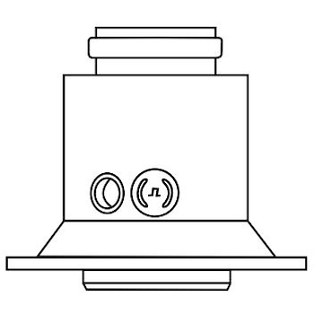 RACCORDO PARTENZA VERTICALE PP 60/100 codice prod: 0020257015 product photo Default L2