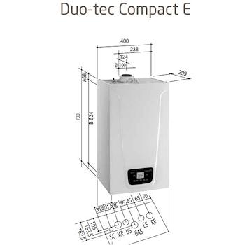 DUO-TEC COMPACT E 24 CALDAIA MURALE CONDENSAZIONE codice prod: A7722082 product photo Foto1 L2