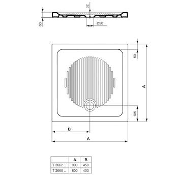 CONNECT PIATTO DOCCIA CERAMICA 80X80 BEU codice prod: T266001 product photo Foto1 L2