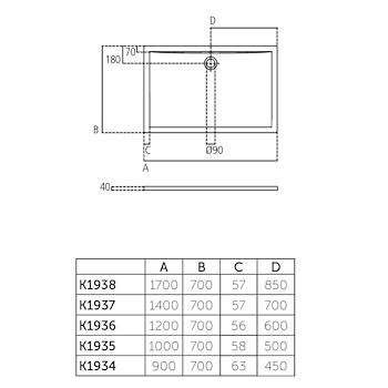 Ultra Flat Piatto Doccia Acrilico 120x70 Beu Codice Prod K193601 Ideal Standard