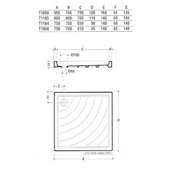 Didone Piatto doccia 75x75 BIANCO IDEAL codice prod: T118400 product photo Foto1 L2