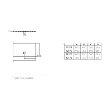 STRADA PIATTO DOCCIA CERAMICA 100X75 BEUS codice prod: T2575YK product photo Foto1 L2