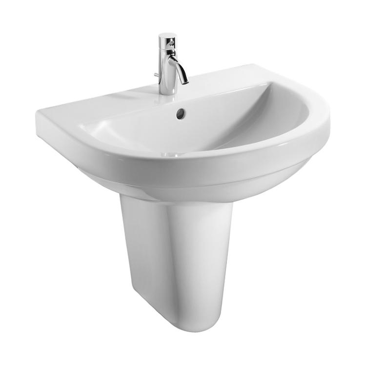 WASHPOINT lavabo 1 foro 70x48 bianco europeo codice prod: R3190001 product photo