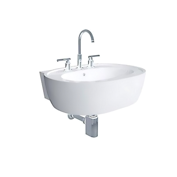 EASY.02 lavabo con bordo 68x53,5 bianco codice prod: 42030-000 product photo
