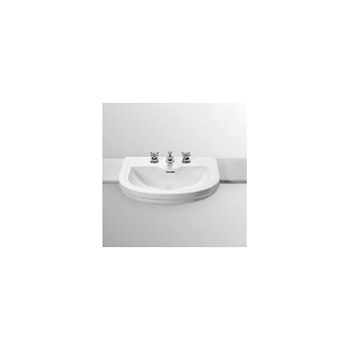 CALLA Lavabo semincasso 3 fori bianco europeo 63x55 codice prod: T097701 product photo Default L2