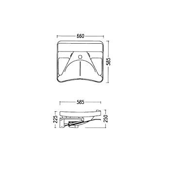 Lavabo ASD sospeso reclinabile con meccanismo pneumatico 66x58bianco europeo codice prod: DSV05882 product photo Foto1 L2