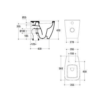 21 WC SCARICO UNIVERSALE codice prod: T316201 product photo Foto1 L2