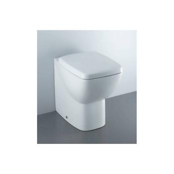 CANTICA vaso filo parete scarico universale con sedile bianco europeo codice prod: T317101 product photo Default L2