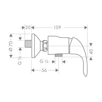 Miscelatore HANSGROHE FOCUS E doccia esterno cromato codice prod: 31760000 product photo Foto1 L2