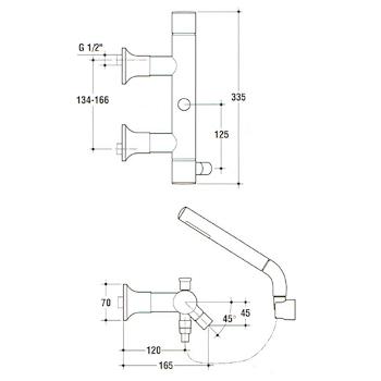 Miscelatore IDEAL STANDARD Alfiere con doccetta vasca codice prod: N9787AA product photo Foto1 L2
