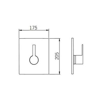 Miscelatore LAUFEN ALESSI ONE parte esterna doccia incasso cromato codice prod: 5550000008597 product photo Foto1 L2