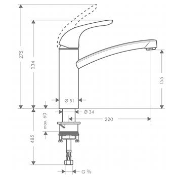 Miscelatore HANSGROHE FOCUS Lavello cromaTO codice prod: 31780000 product photo Foto1 L2