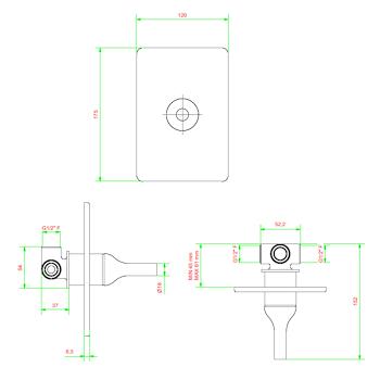 BATLO' BI300 miscelatore doccia incasso cromato codice prod: BI300CC product photo Foto1 L2