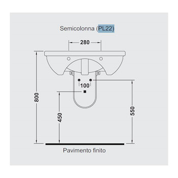 PLUVIA semicolonna bianca codice prod: PL22 product photo Foto1 L2