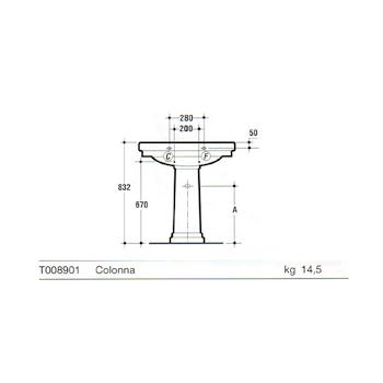 CLASSIC Colonna Lavabo bianco europeo codice prod: T008901 product photo Foto1 L2