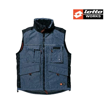 TG.L - GILET LOTTO imbottito BLU codice prod: 10.699/L product photo Default L2