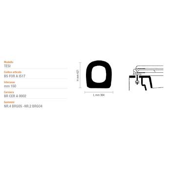 TESI asse wc TRASPARENTE codice prod: AFI178553218 product photo Default L2