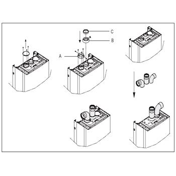 BERETTA kit scarico fumi sdoppiato D.80 80 per mynute boiler codice prod: 1100549 product photo Default L2