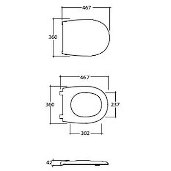 GRACE SEDILE DUROPLAST RALL BIANCO LUCIDO codice prod: GR022BI product photo Foto1 L2