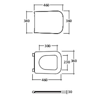 STONE SEDILE 36X46 RALL BIANCO LUCIDO codice prod: ST022BI product photo Foto1 L2
