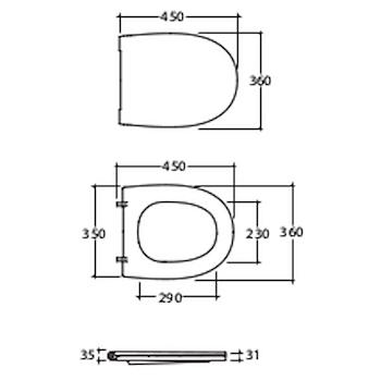 4ALL SEDILE TERMOINDURENTE RALL BIANCO LUCIDO codice prod: MDR20BI product photo Foto1 L2