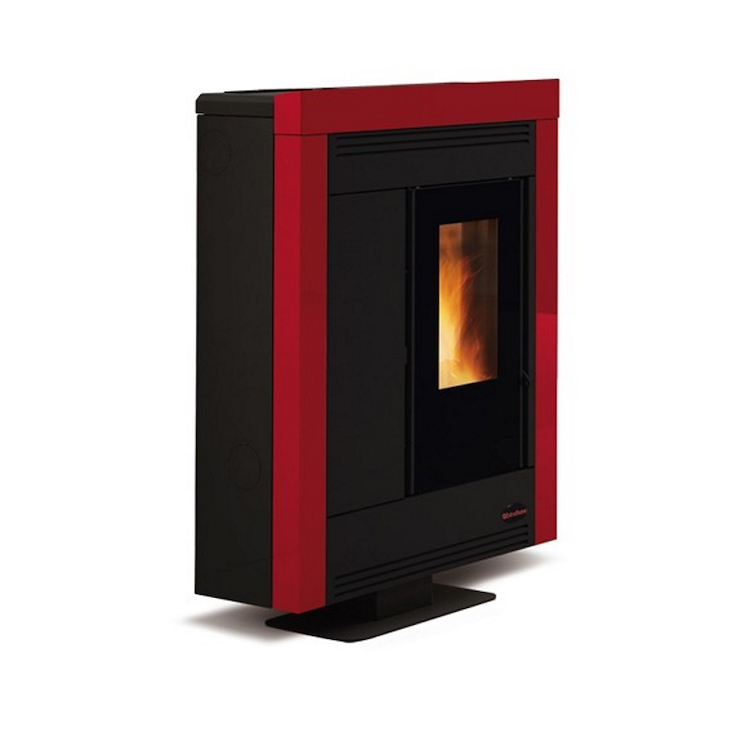 SOUVENIR STEEL 001275750 STUFA A PELLET KW 11 BORDEAUX codice prod: 001275750 product photo