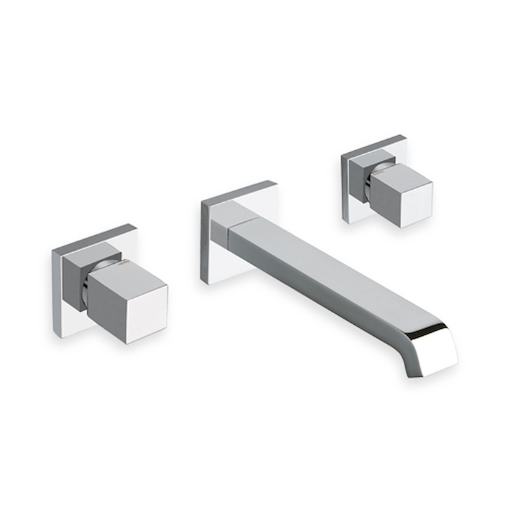 QUADRI RUBINETTO LAVABO A PARETE CON PILETTA codice prod: LICQD24251 product photo