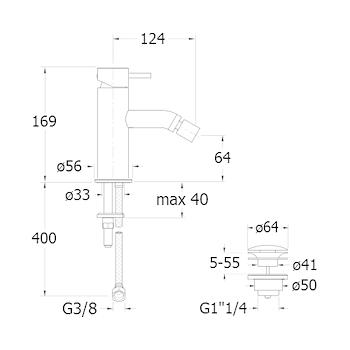 TRICOLORE VERDE RUBINETTO BIDET MONOLEVA codice prod: LISTV36451 product photo Foto1 L2