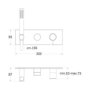 TRICOLORE VERDE RUBINETTO DOCCIA INCASSO codice prod: LISTV60251 product photo Foto1 L2