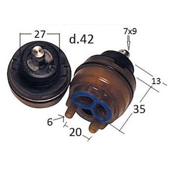 RICAMBIO 00000019V000 CARTUCCIA PER RUBINETTI 19V MAMOLI NERO codice prod: 00000019V000 product photo Default L2