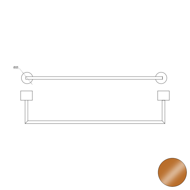 OFFICINA 02 4576 PORTA SALVIETTE 40 BRONZO codice prod: 11445768000 product photo