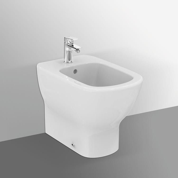 TESI NEW BIDET FILO PARETE 1 FORO BIANCO SETA V1 codice prod: T3540V1 product photo