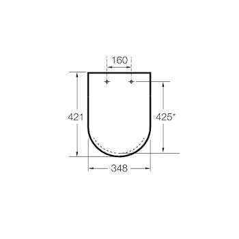 NEO VICTORIA SEDILE CERNIERE IN INOX BIANCO codice prod: A801B6000B product photo Foto1 L2