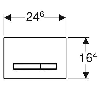 SIGMA 50 115.788.11.2 PLACCA 2 TASTI BIANCO codice prod: 115.788.11.2 product photo Foto1 L2