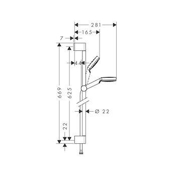 ASTA TONDA CROMATO codice prod: BNASTCAS61 product photo Foto1 L2