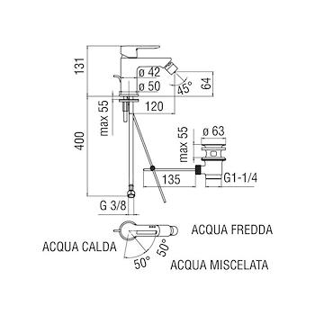 NEW ROAD RDE0119/1 MISCELATORE BIDET ECO CROMATO codice prod: RDE0119/1CR product photo Foto1 L2