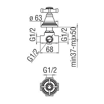 RICAMBIO RITZ RI49160 DEVIATORE 2 VIE INCASSO CROMATO codice prod: RI49160CR product photo Foto1 L2