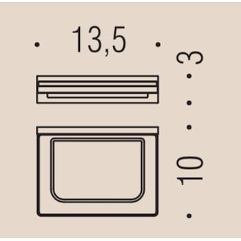 LOOK B1601 PORTA SAPONE APPOGGIO VETRO ACIDATO NATURALE VINTAGE MAT codice prod: B16010VM-VAN product photo Foto1 L2