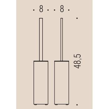 LOOK B1607 PORTA SCOPINO PARETE GRAFITE codice prod: B16070GL product photo Foto1 L2