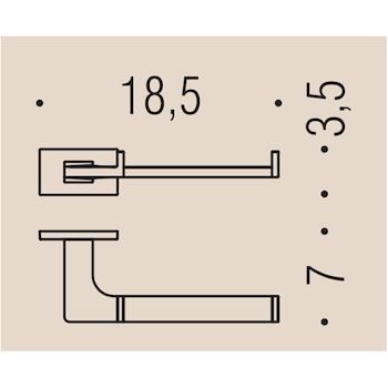 LOOK B1608 PORTA ROTOLO GRAFITE MAT codice prod: B16080GM product photo Foto1 L2