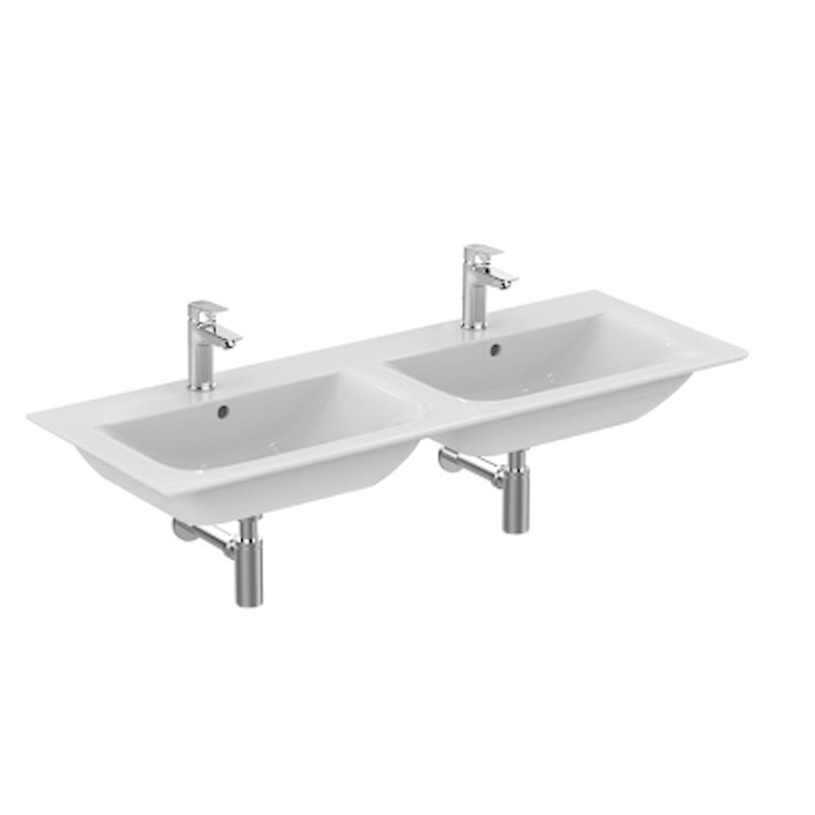 CONNECT AIR E027301 2 LAVABI TOP SOSPESO 2 FORI BIANCO codice prod: E027301 product photo