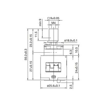 RICAMBI POP RCR107040 CARTUCCIA DIAMETRO 25 MM CON FONDO ROSSO codice prod: RCR107040 product photo Foto3 L2