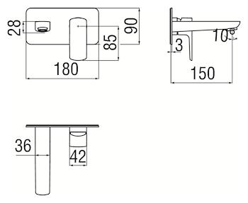 ACQUAVIVA VV103198CR LAVABO A PARETE CROMO codice prod: VV103198CR product photo Foto1 L2