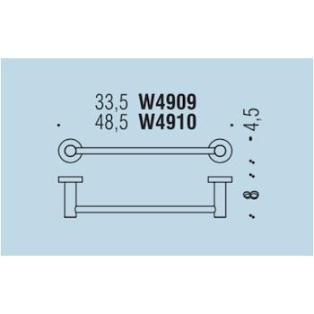 PLUS W4910 PORTA SALVIETTE 48,5 CM GRAFITE MAT codice prod: W49100GM product photo Foto1 L2