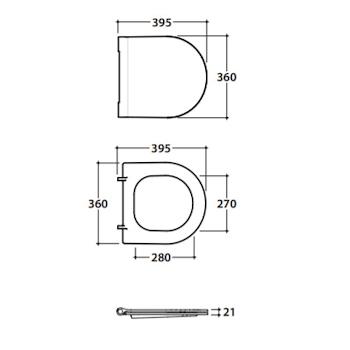 FORTY3 FOR22 SEDILE WC 43.36/58.36 CHIUSURA RALLENTATA BIANCO LUCIDO codice prod: FOR22BI product photo Foto1 L2